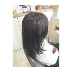 ストレート 暗髪 大人女子 エレガント ヘアスタイルや髪型の写真・画像