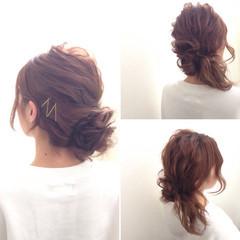 外国人風 ヘアアレンジ ヘアピン ヘアアクセ ヘアスタイルや髪型の写真・画像
