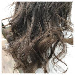 外国人風 大人かわいい セミロング エレガント ヘアスタイルや髪型の写真・画像