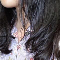 黒髪 ブルージュ 暗髪 ウェーブ ヘアスタイルや髪型の写真・画像