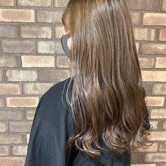 ナチュラル 大人ハイライト 3Dハイライト ロング ヘアスタイルや髪型の写真・画像