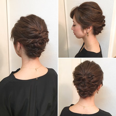 アップスタイル ヘアアレンジ ナチュラル 結婚式 ヘアスタイルや髪型の写真・画像