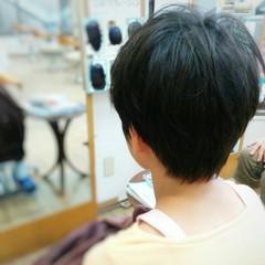 ショート 黒髪 子供 暗髪 ヘアスタイルや髪型の写真・画像