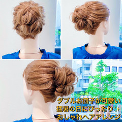 セルフヘアアレンジ ロング フェミニン ヘアアレンジ ヘアスタイルや髪型の写真・画像