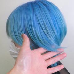 派手髪 デザインカラー ハイトーンカラー ブリーチカラー ヘアスタイルや髪型の写真・画像