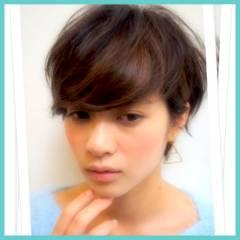 フェミニン モテ髪 ショート 愛され ヘアスタイルや髪型の写真・画像