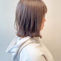 ミルクティーグレージュ ナチュラル ボブ 透明感カラー ヘアスタイルや髪型の写真・画像