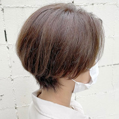 グレージュ ショート ショートヘア ショートボブ ヘアスタイルや髪型の写真・画像