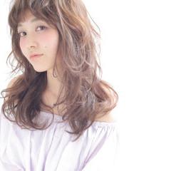ロング 渋谷系 ピュア フェミニン ヘアスタイルや髪型の写真・画像
