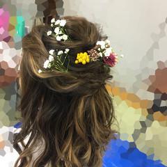 謝恩会 フェミニン ロング ヘアアレンジ ヘアスタイルや髪型の写真・画像