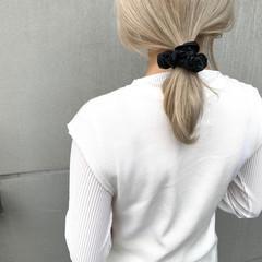 簡単ヘアアレンジ 韓国ヘア セミロング 韓国風ヘアー ヘアスタイルや髪型の写真・画像
