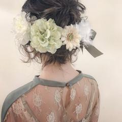 結婚式 謝恩会 ボブ ロブ ヘアスタイルや髪型の写真・画像
