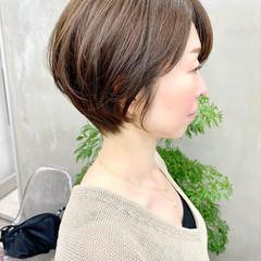 デート 大人かわいい ベリーショート オフィス ヘアスタイルや髪型の写真・画像