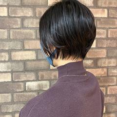 ナチュラル 大人ショート イルミナカラー ショート ヘアスタイルや髪型の写真・画像