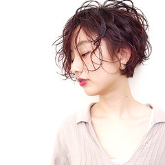 小顔 ショート モード モテ髪 ヘアスタイルや髪型の写真・画像