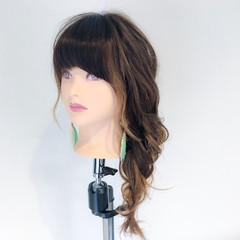 デート アウトドア 麦わら帽子 ヘアアレンジ ヘアスタイルや髪型の写真・画像