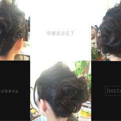 学校 謝恩会 ロング ヘアアレンジ ヘアスタイルや髪型の写真・画像