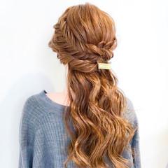 結婚式 フェミニン 謝恩会 ロング ヘアスタイルや髪型の写真・画像