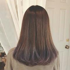 グラデーションカラー 冬 秋 透明感 ヘアスタイルや髪型の写真・画像