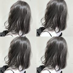 ハイライト ゆるふわ ミディアム グラデーションカラー ヘアスタイルや髪型の写真・画像