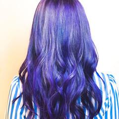 ハイトーン 派手髪 デザインカラー ロング ヘアスタイルや髪型の写真・画像