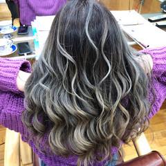 ブリーチ ホワイトカラー ハイライト 外国人風カラー ヘアスタイルや髪型の写真・画像