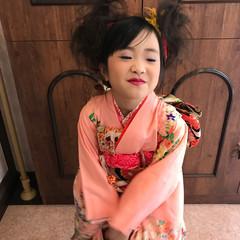 ロング ヘアアレンジ 和装 ガーリー ヘアスタイルや髪型の写真・画像