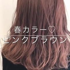オルチャン 渋谷系 透明感 セミロング ヘアスタイルや髪型の写真・画像