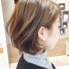 大人かわいい フェミニン ハイライト ボブ ヘアスタイルや髪型の写真・画像