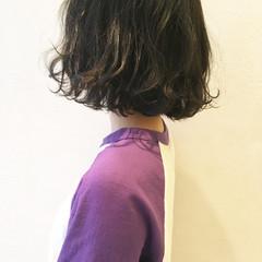 ナチュラル ボブ アッシュ グラデーションカラー ヘアスタイルや髪型の写真・画像