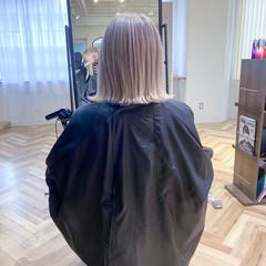 ミニボブ ハイトーンボブ 艶髪 ボブ ヘアスタイルや髪型の写真・画像