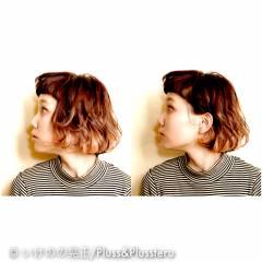3Dカラー ウェットヘア ストリート ショート ヘアスタイルや髪型の写真・画像