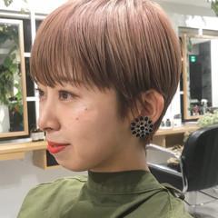ベリーショート ハンサムショート ミニボブ ショートヘア ヘアスタイルや髪型の写真・画像
