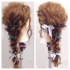 ヘアアレンジ ロング ラフ 編み込み ヘアスタイルや髪型の写真・画像