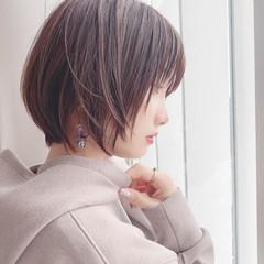 デート アウトドア ショートボブ アンニュイほつれヘア ヘアスタイルや髪型の写真・画像