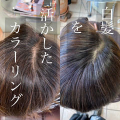 髪質改善カラー ショート グレーカラー 白髪染め ヘアスタイルや髪型の写真・画像