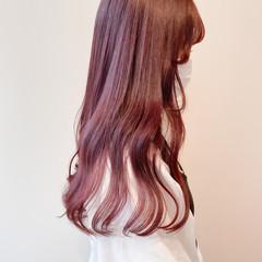 ピンクアッシュ ピンクベージュ ラベンダーピンク ブリーチなし ヘアスタイルや髪型の写真・画像