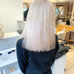 ハイトーン ホワイトカラー ハイトーンカラー ブロンドカラー ヘアスタイルや髪型の写真・画像
