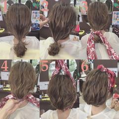 夏 セミロング 花火大会 パーティ ヘアスタイルや髪型の写真・画像