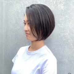 ショートボブ ショートヘア ボブ ナチュラル ヘアスタイルや髪型の写真・画像