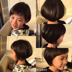 ナチュラル 子供 ショート ショートボブ ヘアスタイルや髪型の写真・画像