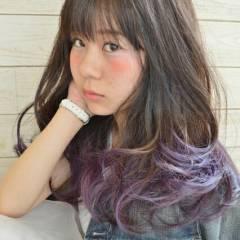 大人かわいい 外国人風 ゆるふわ グラデーションカラー ヘアスタイルや髪型の写真・画像