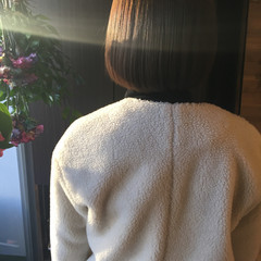 ボブ アッシュグレージュ ベージュ ナチュラル ヘアスタイルや髪型の写真・画像