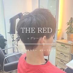 メンズショート レッドカラー メンズスタイル ナチュラル ヘアスタイルや髪型の写真・画像
