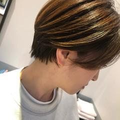 ショートヘア ナチュラル ミニボブ 小顔ショート ヘアスタイルや髪型の写真・画像