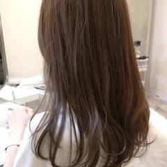 ロング 大人かわいい 大人女子 グレージュ ヘアスタイルや髪型の写真・画像