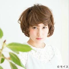 ガーリー 外国人風 パーマ フェミニン ヘアスタイルや髪型の写真・画像