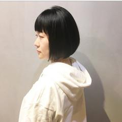 ショートボブ ボブ ナチュラル ミニボブ ヘアスタイルや髪型の写真・画像