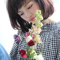 ボブ バレンタイン 簡単ヘアアレンジ アンニュイ ヘアスタイルや髪型の写真・画像