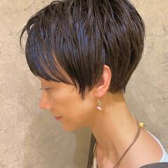 ショートボブ ナチュラル ベリーショート 前髪あり ヘアスタイルや髪型の写真・画像